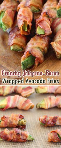 Crunchy Jalapeno-Bacon Wrapped Avocado Fries