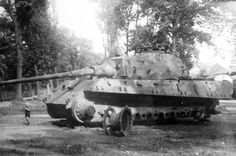 Destroyed King Tiger tank of the Schwere Panzer-Abteilung 507. Osterode 1945