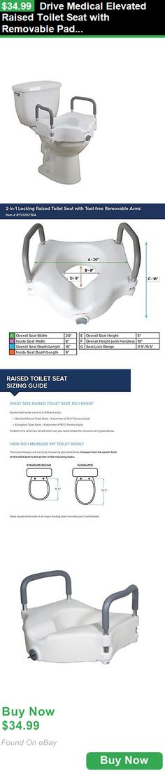 Toilet Seats 171540: Drive Medical Elevated Raised Toilet Seat With Removable Padded Arms, Standard S BUY IT NOW ONLY: $34.99