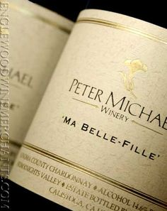 peter michael chardonnay - cannot even put into words how wonderful this wine is...