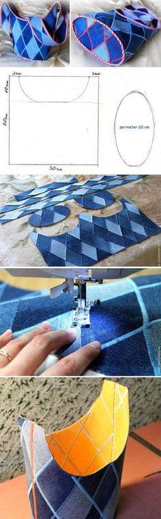 Bag Torba Jeans Tutorial. Сумка из старых джинс. http://www.handmadiya.com/2015/09/bag-torba-jeans-tutorial.html