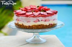 FullyRaw strawberry shortcake. http://www.fullyraw.com/recipes/the-fullyraw-strawberry-shortcake/