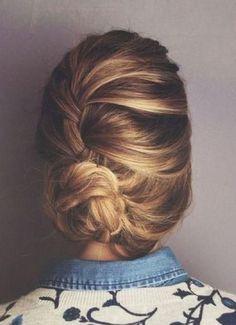 French braid bun. #beauty #hair #braid #updo