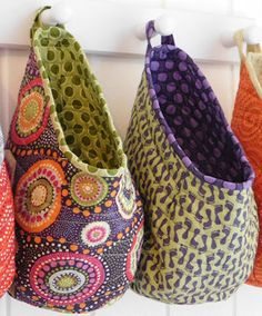 fabulous Storage Pods Pattern £6 - love the funky colours used and each only needs a 2 fat quarters :) . . .