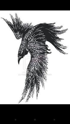 nordic raven tattoos - Google Search