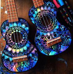 Made to order hand painted ukulele. This listing is for a hand painted ukulele… Ukulele Art, Ukulele Songs, Guitar Art, Music Guitar, Painted Ukulele, Sailor Moon, Ukulele Design, Guitar Painting, Tambourine