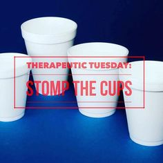 happy #therapeutictuesday! stomp the cups is on the blog now! clickable link in Instagram bio#childlifechick #CCLS #therapeuticactivity #childlifestudents #internship ☕️