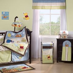 Friendship Pooh 4 Piece Crib Set by Kids Line at BabyEarth.com, $135.95