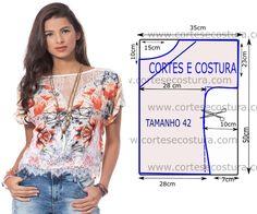 BLUSA COM RENDA BRANCA | Cortes e Costura