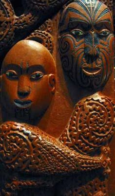 In one Maori creation myth, the primal couple are Rangi and Papa, depicted holding each other in a tight embrace Maori Face Tattoo, Maori Tattoos, Los Mejores Tattoos, Polynesian People, Polynesian Art, African Mythology, Origin Of The World, Creation Myth, Arte Tribal