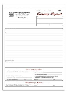 Free Printable Bid Proposal Forms  Business