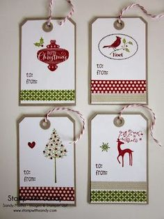 Hello there once again, my Stampin' friends! I'm now on day four of my Season of Style week and today I have a collection of tags. They were totally inspired by tags made by my fellow Paper Player, th