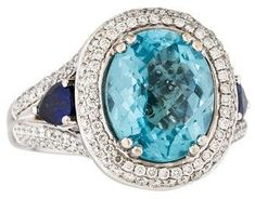 Charles Krypell Blue Topaz, Diamond & Sapphire Ring. Topaz jewelry. I'm an affiliate marketer. When you click on a link or buy from the retailer, I earn a commission.