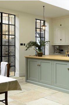 Soft colors English kitchen