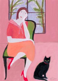 Lady in the Pink Room.  Barbara Perrine Chu.