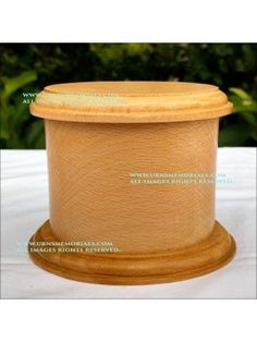 Oval Wooden Urn