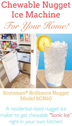 Residential Nugget Ice Machine for Chewable Ice at Home! I need this!
