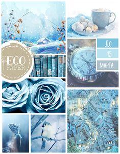 Голубая доска вдохновения до 15 марта - EcoPaper