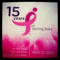 Don't forget to register now for our 15th Annual Race for the Cure on April 27th, 2013 at the Pinnacle Hills Promenade Mall!  You can participate in the 10K, 5K, 5K run/walk, 1 mile Family Walk, Kids for the Cure, Bark for the Cure, Teens for the Cure or Sleep in for the Cure!  You won't want to miss it! #nwarftc