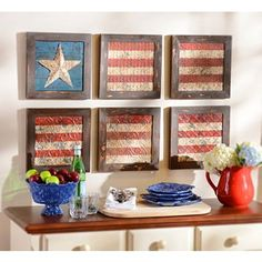 Glory American Flag Plaque, Set of 6 | Kirkland's