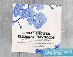 Floral Wreath Bridal Shower Invitations