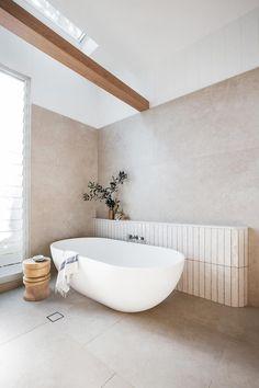 Coastal Bathrooms, Modern Bathroom, Master Bathroom, Colorful Bathroom, Remodled Bathrooms, Neutral Bathroom, Minimal Bathroom, Bathroom Large Tiles, Bathroom Feature Wall Tile