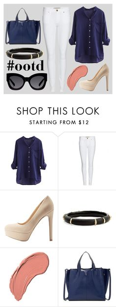 """""""#ootd"""" by victoriakfc on Polyvore featuring Burberry, Charlotte Russe, Alexis Bittar, NYX, Luciana Verde and Karen Walker"""
