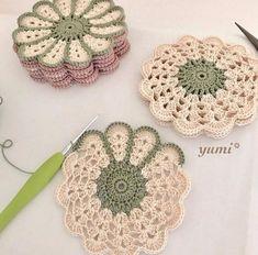 63 Ideas For Crochet Free Pattern Granny Square Haken patrones Crochet Coaster Pattern, Crochet Flower Patterns, Doily Patterns, Crochet Motif, Crochet Doilies, Crochet Flowers, Knitting Patterns, Doilies Crafts, Crochet Ideas
