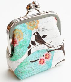 Handmade Coin Purse Small Snap Frame Wallet by BrooklynLoveDesigns, $35.00