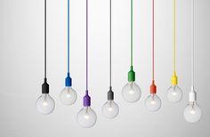 Open bulb and colour cord is just so trendy right now. From Entrepo