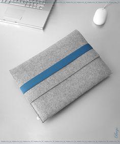 Macbook Air sleeve WOLF original german woolen felt sleeve for your 11 inch Mac book Air or 13 inch Mac Book Air. $69.00, via Etsy.