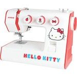 Super cute Hello Kitty sewing machine. These Janome sewing machines are excellent for beginners.