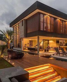 Most Popular Modern Dream House Exterior Design Ideas 19 - kindledecor Dream Home Design, Modern House Design, Modern Exterior House Designs, Modern Contemporary House, Modern Glass, Modern Homes, Modern Minimalist House, Minimalistic Kitchen, Minimalist Interior
