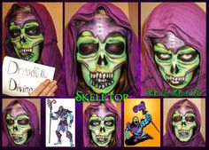 This is my Skeletor look that I createdfor a contest. This one is also a top favorite for me, I love the contrasting colors!