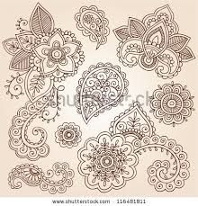 simple henna flower tattoos - Google Search