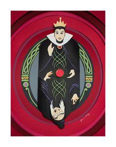 Evil - Jackie Huang [Evil Queen vs the Hag] Paper Art Evil Disney, Disney Crafts, Disney Fan Art, Disney Love, Disney Magic, Disney Stuff, Disney Artwork, Radios, Disney Villains