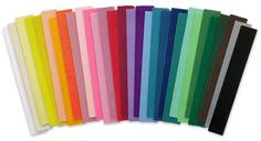 "Craft Shop: Single-Ply Crepe Paper, Made in America on Blumchen.com. 20"" wide by 7 1/2 feet long folds of paper, available in 30 colors, for $1.35 per fold. (Shipping for purchase up to $15 is $4.95.)"