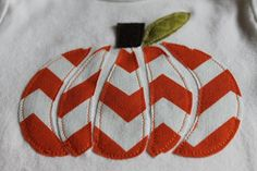 Pumpkin onesie fall onesie halloween onesie chevron by BeesBabyTs
