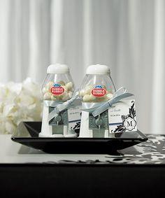 Mini Classic White Gumball Dispenser