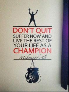 ALI BOXING QUOTES | Muhammad Ali Quotes Don't Quit