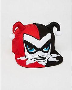 607a3e357ce 3D Harley Quinn Batman Snapback Hat - Spencer s