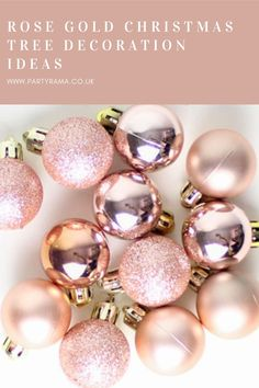 Beautiful Christmas tree decorations for your tree this Christmas, along with many other ideas to give your tree a bit of sparkle. Christmas Rose, Xmas, Beautiful Christmas Trees, Ceiling Decor, Beautiful Wall, Christmas Tree Decorations, Party Supplies, Pearl Earrings, Rose Gold