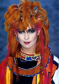 Toyah Willcox August/September 1982 'Be Proud Be Loud (Be Heard)' 1980 Makeup, Punk Makeup, Punk Princess, Disney Princess, 80s Goth, 80s Icons, Logo Face, Uk History, Music Pics