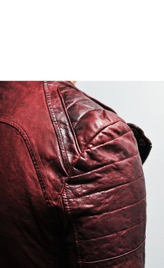 Designer Homme Seaming Crinkle Lambskin Biker-Leather 60 - GUYLOOK