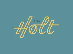Logo Design Club - The Holt – Type Based Logo Design – Logo Design – Logo Design Club - Web Design, Design Club, Design Retro, Logo Type Design, Layout Design, Logos Retro, Retro Typography, Typography Letters, Vintage Logos