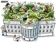I guess draining the swamp means putting it on top of the White House