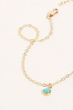 14k Joey Anklet | Free People UK Turquoise Necklace, Beaded Necklace, Body Jewellery, Anklets, Jewelry Accessories, Free People, Delicate, Stone, Gold