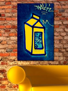 Milk Wall (Canvas) by Th-Ink Art at Gilt