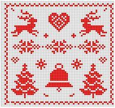 Resultado de imagem para arbolitos de navidad en punto de cruz