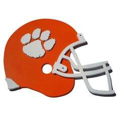 Clemson Tigers 3D Football Helmet Wall Art, Multicolor